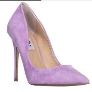 Steve Madden Suede Purple Pumps